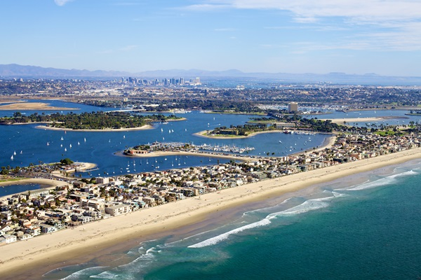Mission Beach From the Sky