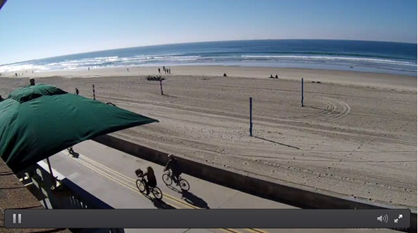 South Facing Mission Beach Live Surf Camera